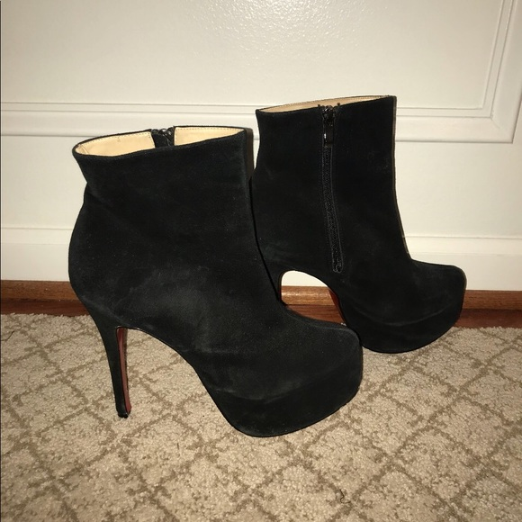 f55ef5f9665c Christian Louboutin Shoes - Christian Louboutin black suede Bianca Booty